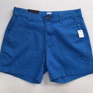 "Gap womens chino 5"" Shorts Mid Rise Stretch Blue"